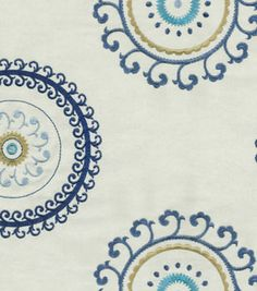 Upholstery Fabric-Waverly Ottoman Ornament/Aegean