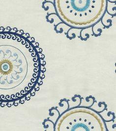 Upholstery Fabric-Waverly Ottoman Ornament/Aegean