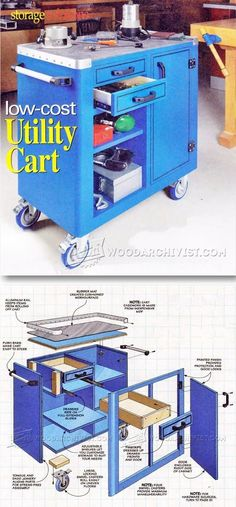 Shop Utility Cart Plans - Workshop Solutions Projects, Tips and Tricks   WoodArchivist.com
