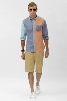 Roll up the shorts and we have a deal! Love this shirt... via Brooks Brothers
