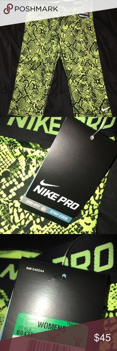 NWT Nike Pro Capri's Brand new with tags never worn! Need to get rid of ASAP. Make me an offer :) Nike Pants Capris