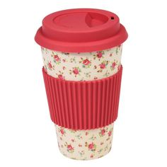 La Petite Rose Bamboo Travel Mug from Rex London - the new name for dotcomgiftshop. Great value gifts and homeware in original designs. Go Green, Eco Coffee Cup, Coffee To Go Becher, Cappuccino Cups, Recycled Bottles, Retro Home Decor, Rose Design, Travel Mug, Mugs