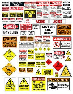 1: 24 1:18 WARNING SIGN DECALS FOR DIECAST GARAGE   MODEL CARS  DIORAMAS