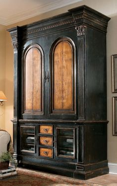 Gentil North Hampton Entertainment Console And Pocket Door Hutch Combo By Hooker  Furniture   Riverview Galleries   Armoire Furniture Store NC By Riverview  ...