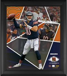 d5717963aae Mitchell Trubisky Chicago Bears Framed 15