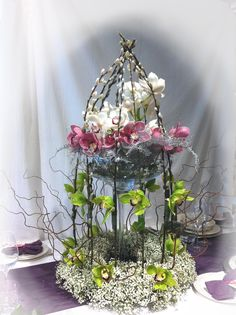 bird cage arrangements | Wedding Flowers in Kent by Display & Style Events Wedding Flowers and ...