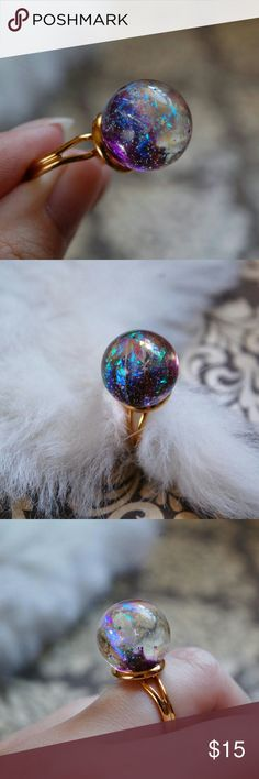 402335fa858 Crystal Ball Ring in Purple and Gold