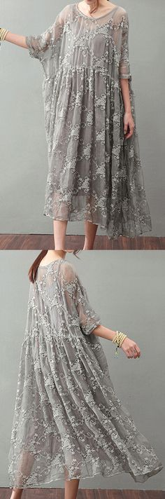 vintage gray silk maxi dress trendy plus size lace gown top quality bracelet sle. - vintage gray silk maxi dress trendy plus size lace gown top quality bracelet sle… vintage gray silk maxi dress trendy plus size lace gown top quality bracelet sleeved Plus Size Lace Dress, Lace Top Dress, Silk Dress, New Dress, Lace Maxi, Mode Outfits, Dress Outfits, Fashion Dresses, Fashion Clothes