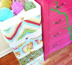 Great idea for decorative storage space.