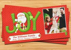 Santa Joy Christmas Card
