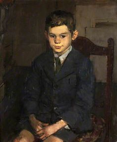 Ruskin Spear (British, 1911-1990) : Portrait of a Boy, 1950. Bristol Museum and Art Gallery.