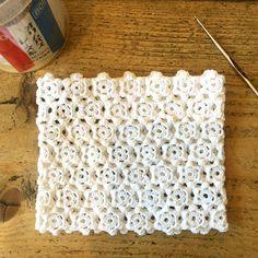 Irish crochet rose