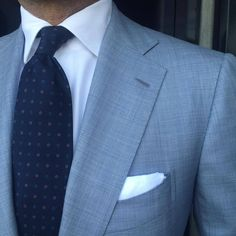 wool and silk blend in traditional sharkskin suit by Sea Island yarn shirt by and pocket square by Mens Fashion Suits, Mens Suits, Men's Fashion, Sharkskin Suit, Mode Costume, Designer Suits For Men, Dress For Success, Suit And Tie, Well Dressed Men