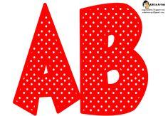 KATIA ARTES - BLOG DE LETRAS PERSONALIZADAS E ALGUMAS COISINHAS: Alfabeto Galinha Pintadinha poá vermelho e branco