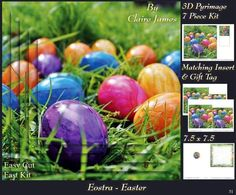 Spring Time Eostra Easter Eggs Hunt Ready Insert Tag on Craftsuprint - Add To Basket!