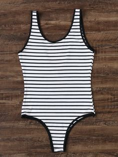 Shop Black And White Striped One-Piece Swimwear online. SheIn offers Black And White Striped One-Piece Swimwear & more to fit your fashionable needs.
