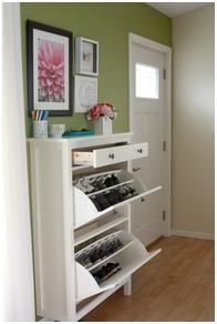 at IKEA! entry way shoe solution at IKEA! entry way shoe solution at IKEA! entry way shoe solution Diy Casa, Home Organization, Organizing Shoes, Organizing Ideas, Small Entryway Organization, Organized Entryway, Home Projects, Sweet Home, New Homes