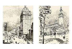 Difonzo, Town Square on Canvas Set of 2 on OneKingsLane.com