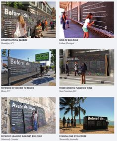"Before I Die wall tutorial...change to ""Before I Leave Camp"" or ""Before I Grow Up"""