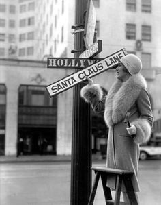 Mary Pickford wants to make sure Santa Claus can find the way!