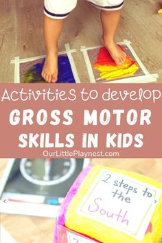 Here are some great ideas to get your preschoolers and toddlers to start moving! Activities to move their body and develop their gross motor skills such as obstacle courses, yoga, bean bag carry and other crossing the midline movements. Gross Motor Activities, Gross Motor Skills, Infant Activities, Preschool Activities, Health Activities, Movement Activities, Therapy Activities, Physical Activities, Play Based Learning