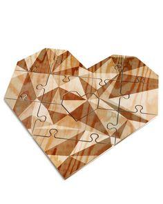 You Complete Me Jigsaw Heart