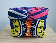 Mandje Afrikaanse stof, Batik stof door SusansWax op Etsy