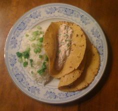 White Rice w/chives  Tuna w/tomato, cilantro, chives, light sour cream, light mayonnaise.