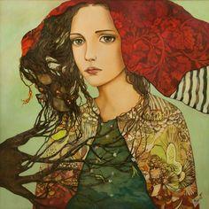 Monica Fernandez Pintora. La raiz de todo 150*150 oleo sobre madera