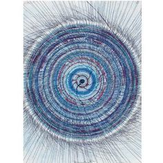 Damien Hirst  Untitled (Spin Drawing)  Executed in 2003. pastel, acrylic ink, wax pastel, glitter, felt-tip pen and coloring pencil on paper