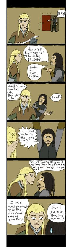 legolas+pictures+funny | Legolas And Aragorn comic strip by Drag0n24 on deviantART