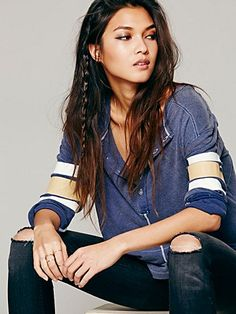 Free People We The Free Game Time Henley. I'd never say I'm a tomboy but I like this kinda attitude.