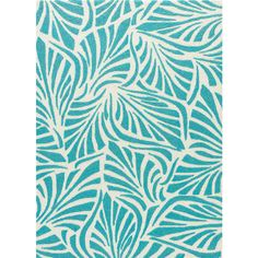 Coastal Lagoon Rug in Teal & Cloud Cream design by Jaipur ($80) ❤ liked on Polyvore featuring home, rugs, polypropylene area rugs, ivory area rug, teal blue area rugs, teal blue rug and olefin area rugs