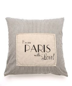 Mon Château Black 'From Paris with Love' Throw Pillow