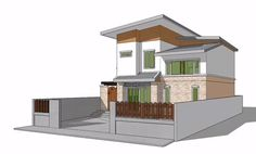 In This Tutorial You Will Learn How To Import .dwg Plan And Build A Modern  House In SketchUp