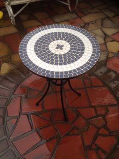 Garden Furniture Mosaic mosaic garden table 60cm antique style outdoor patio furniture