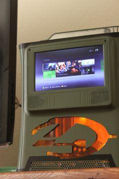 Custom Halo 4 Xbox 360 with Built In Screen. $400.00, via Etsy.