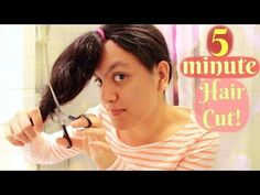 Life Hack: 5 Minute Haircut for Curly and Straight Hair! Today i show you how to trim your curly or straight hair in 5 minutes! It might even take less if you have short or straight hair! This is the easiest and sa… Cut Own Hair, Trim Your Own Hair, How To Cut Your Own Hair, Hair Trim, Layered Curly Hair, Long Curly Hair, Curly Girl, Curly Hair Styles, Self Haircut