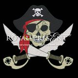 Machine Embroidery Design - Pirate Skull and crossed sables