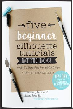 The Ultimate Silhouette Beginners Guide written by the author of Silhouette School blog. The perfect 10 page guide for getting started with Silhouette  CAMEO or Portrait! This guide includes 5 Silhouette project tutorials designed with free cut files specifically for Silhouette newbies! Available in paperback or as an instant download ebook