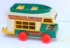 Vintage Fisher Price Little People 1972 Play Family Camper Model 994. I still have mine.