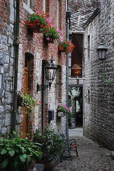 Rue des Récollets, Durbuy, Belgium by Jean Housen.