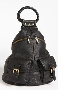 faux leather backpack $29