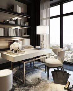 Modern Office Design, Office Interior Design, Office Interiors, Modern Home Offices, Home Office Space, Home Office Decor, Home Decor, Diy Zimmer, Decorating Your Home