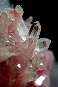 Quartz on Rhodonite from Peru