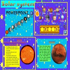This is a beautiful and informative 22 slides PowerPoint presentation.It provides a fun way for students to review what they know about our Solar System.AstronomySolar System:- inner planets: Mercury, Venus, Earth, and Mars; - outer planets: Jupiter, Saturn, Uranus, Neptune;This is a super fun and interactive slide show.