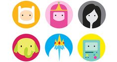 Check out these ultra simplified cartoon characters to satisfy all of your vector art needs!