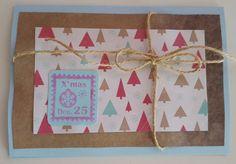 DIY-Party Stamping Weihnachtskarte Geschenk