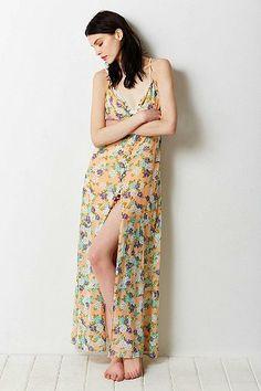 Love Sadie Button-Front Maxi Dress