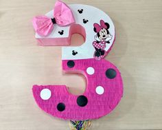 Items similar to Beautiful Minnie Mouse in pink pillowcase dress. on Etsy Minnie Mouse Pinata, Minnie Mouse Rosa, Mickey Mouse Crafts, Minnie Mouse Birthday Decorations, Bolo Minnie, Pink Minnie, Minnie Birthday, Little Girl Birthday, Painted Rocks Kids